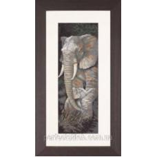PN-0008232 Набор для вышивки крестом LanArte Protective Care Слоны