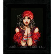 PN-0144529 Набор для вышивки крестом LanArte Gypsy girl Цыганка