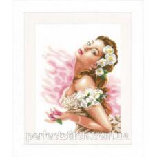 PN-0144562 Набор для вышивки крестом LanArte Lady of the Camellias Дама с камелиями