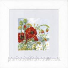 PN-0146360 Набор для вышивки крестом LanArte Poppies Маки