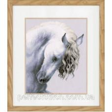 PN-0147414 Набор для вышивки крестом LanArte Impetuous roan Стремительная чалая лошадь
