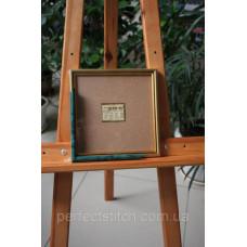 Рамка со стеклом Зеленый мрамор