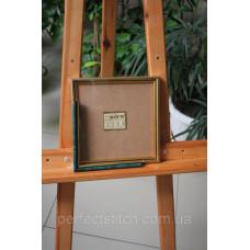 Рамка со стеклом Зеленый мрамор с золотом