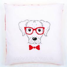PN-0155963 Набор для вышивания гладью (подушка) Vervaco Собака в красных очках