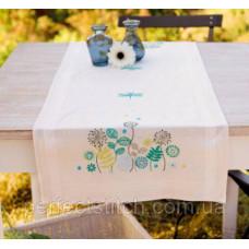 PN-0147122 Набор для вышивания гладью (дорожка на стол) Vervaco Травы и стрекозы
