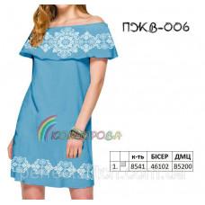 Заготовка для вышивки платья женского без рукавов с воланом ПЖВ-006