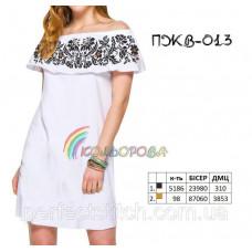 Заготовка для вышивки платья женского без рукавов с воланом ПЖВ-013