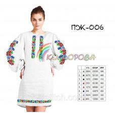 Заготовка для вышивки платья женского с рукавами ПЖ-006