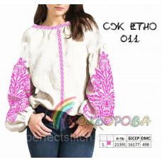 Заготовка для вышивки женской сорочки СЖ-ЕТНО-011