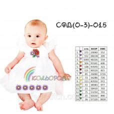 Заготовка для вышивки сарафана детского СФД (0-3р.)-015