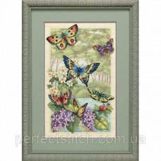 Набор для вышивки крестом DIMENSIONS Бабочки в лесу