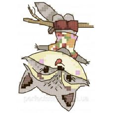 Схема для вышивания крестиком на водорастворимой канве