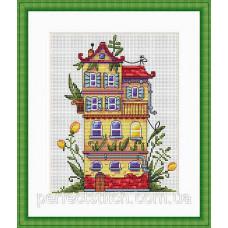 Набор для вышивания крестом Весенний домик Мережка