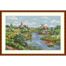 Набор для вышивания крестом Весенний пейзаж Мережка