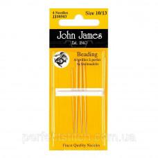 Beading №10 (4шт) Набор бисерных игл John James (Англия)