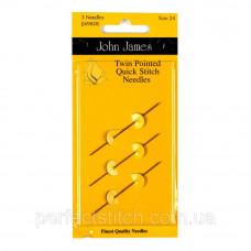 Twin Pointed Quick Stitch Набор двусторонние гобеленовых игл John James (Англия) (3шт)