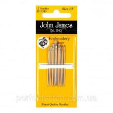 Embroidery №1/5 (12шт) Набор игл для вышивки гладью John James (Англия)