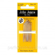 Embroidery №3 (12шт) Набор игл для вышивки гладью John James (Англия)