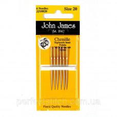 Chenille №18/22 (6шт) Набор игл для вышивки лентами John James (Англия)