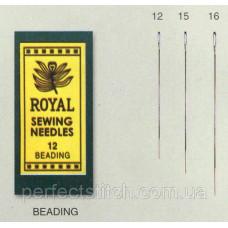Beading 15 (25шт) Набор игл для бисера Royal (Япония)