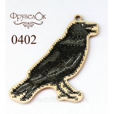 Набор для вышивки крестиком на деревянной основе Ворон
