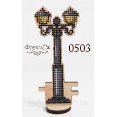 Набор для вышивки крестиком на деревянной основе Ліхтар