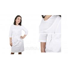 Заготовка для вышивки платья женского (белое с поясом)схема 33/34 (или 35/36, 37/38, 57/56, 65/64)