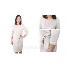 Заготовка для вышивки платья женского (лен с поясом)схема 35/36 (или 33/34, 37/38, 57/56, 65/64)