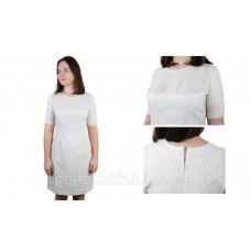 Заготовка для вышивки платья женского с поясом, льняное схема 43/44 (или 39/40, 41/42, 60/61, 62/63)