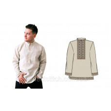 Заготовка для вышивки сорочки мужской (лен дл. рукав),схема 29-30