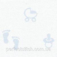 3706/5289 Baby-Aida 14 Молочный с детским рисунком (голубой)