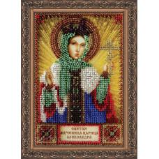 Набор для вышивки бисером именной мини-иконы «Святая Александра»