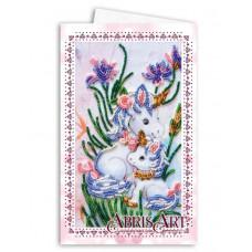 Набор для вышивки бисером открытка-конверт Единорожки
