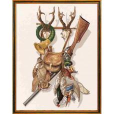 "12-279  Набор для вышивания ""Охота (Hunting)"" Eva Rosenstand"