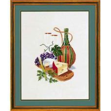 """12-603 Набор для вышивания """"Сыр и красное вино (Cheese & redwine)"""" Eva Rosenstand"""