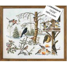 """12-651 Набор для вышивания """"Птицы у кормушки (Eating birds)"""" Eva Rosenstand"""