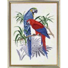 """12-765  Набор для вышивания """"Синие Ары (Blue macaws)"""" Eva Rosenstand"""