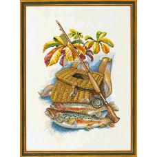 """12-945 Набор для вышивания """"Рыбалка (Fishing)"""" Eva Rosenstand"""