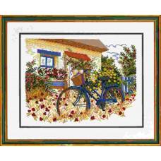 """14-153  Набор для вышивания """"Синий велосипед (Blue bike)"""" Eva Rosenstand"""
