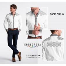 Заготовка для вышивки рубашки мужской комбинированной ЧСК-001б