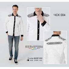 Заготовка для вышивки рубашки мужской комбинированной ЧСК-004