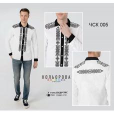 Заготовка для вышивки рубашки мужской комбинированной ЧСК-005